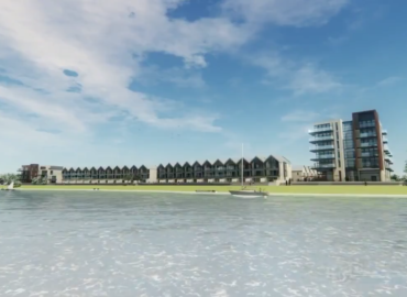Composite image of the Ropetackle, Shoreham development by PMC Construction