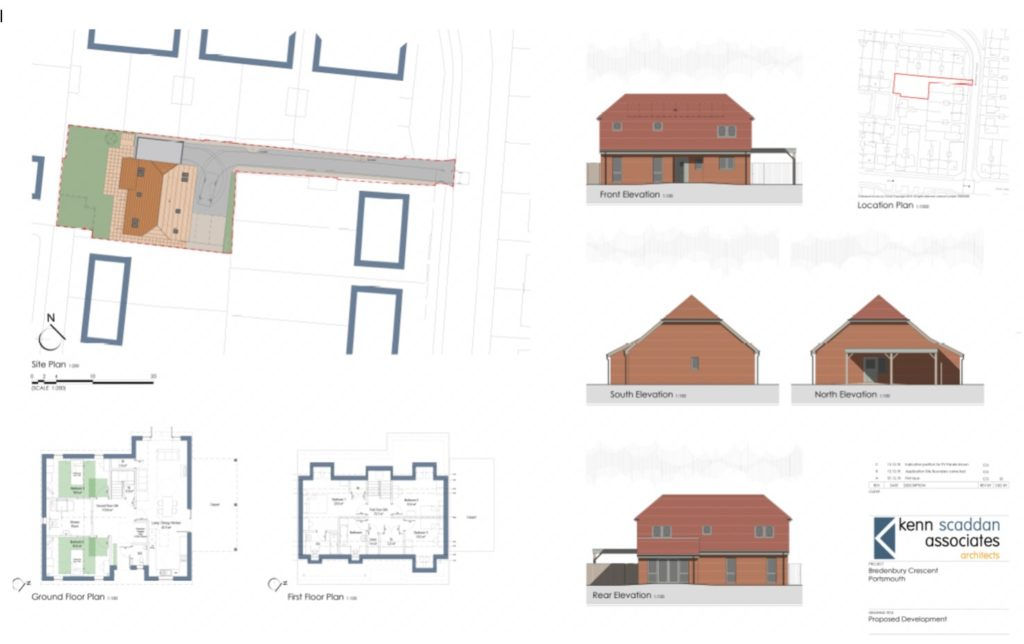 Proposed design for PMC Construction's build of a 5-bedroom house for disabled persons in Bredenbury Close, Portsmouth